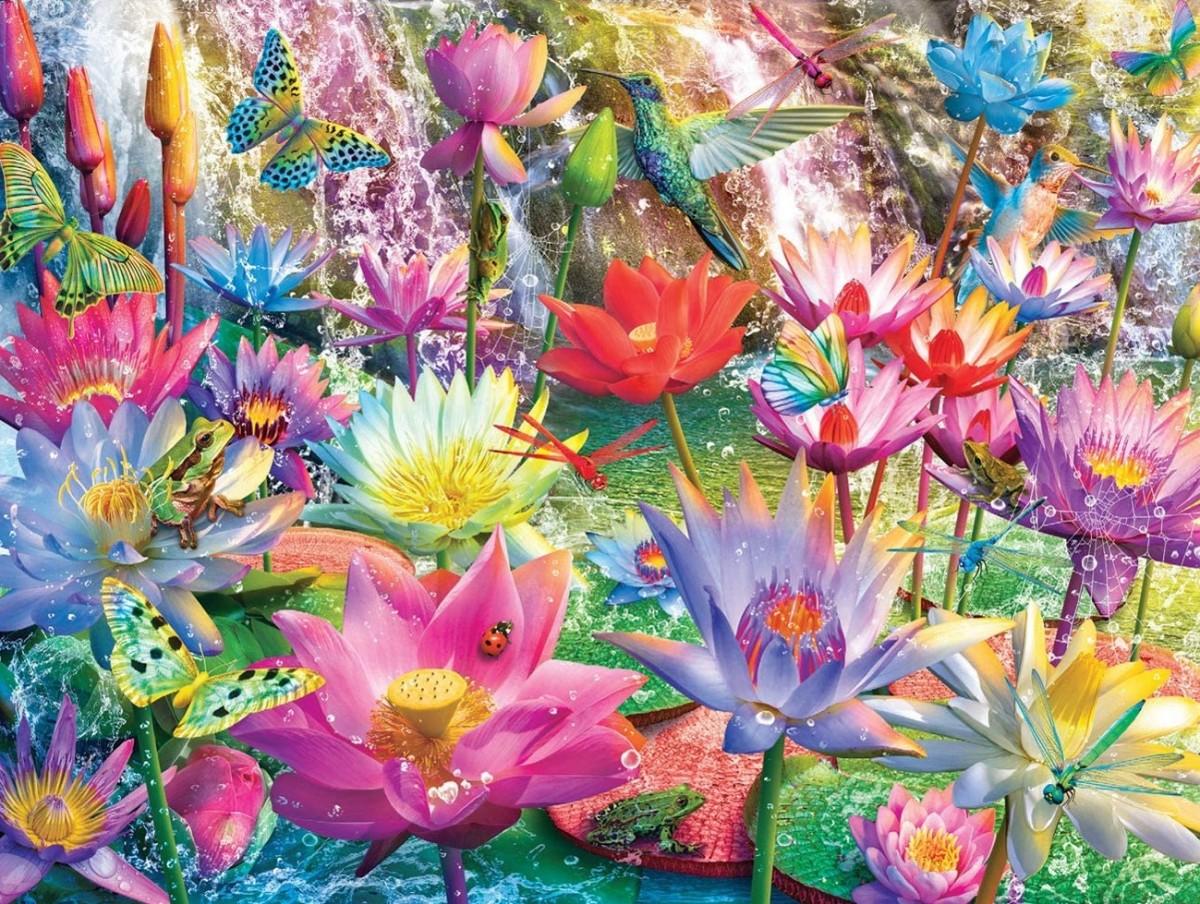 Пазл Собирать пазлы онлайн - Водяные лилии