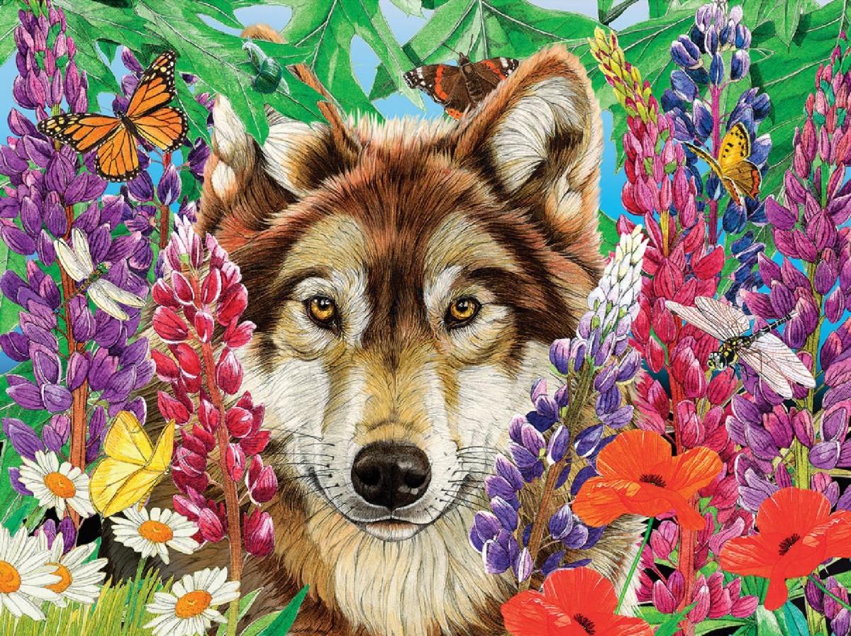 Пазл Собирать пазлы онлайн - Волк
