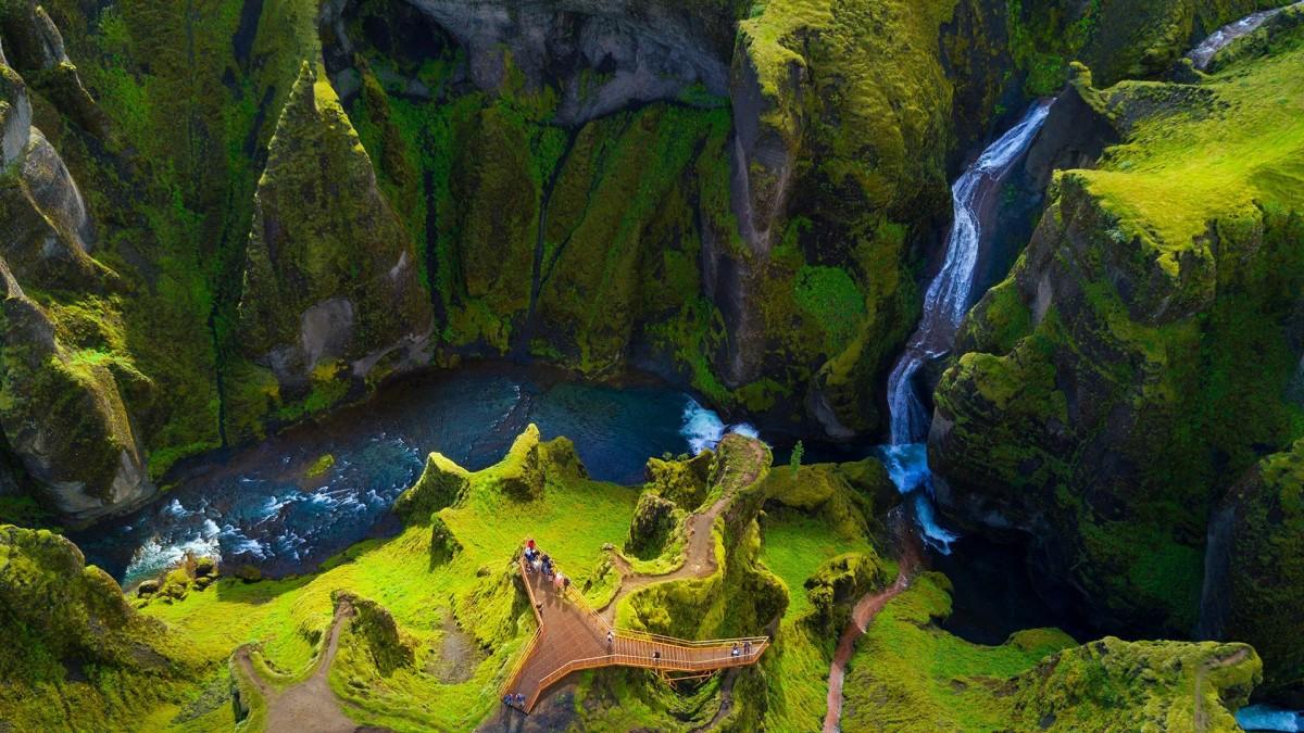 Пазл Собирать пазлы онлайн - Волшебная Исландия