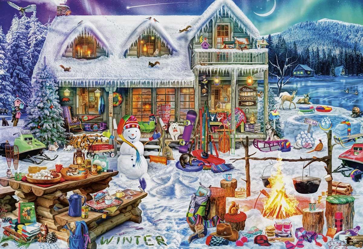 Пазл Собирать пазлы онлайн - Волшебний дом
