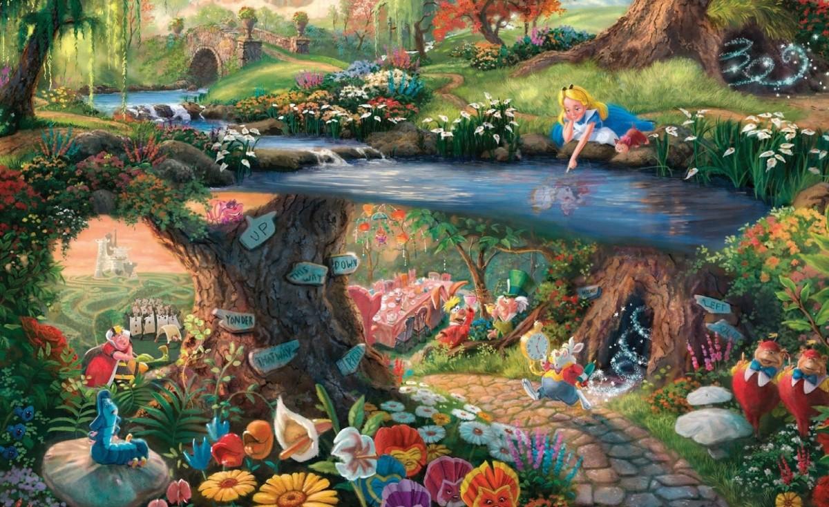 Пазл Собирать пазлы онлайн - Волшебный мир Алисы