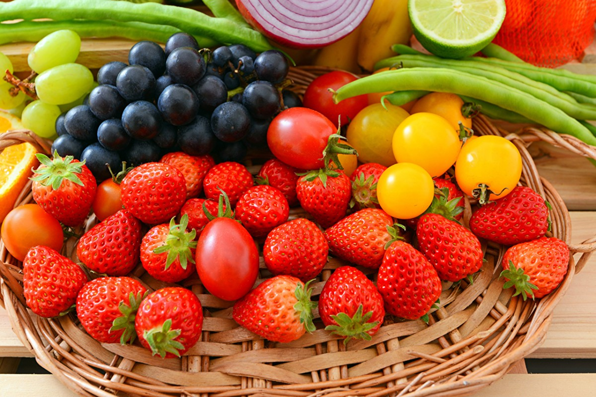Пазл Ягоды и овощи
