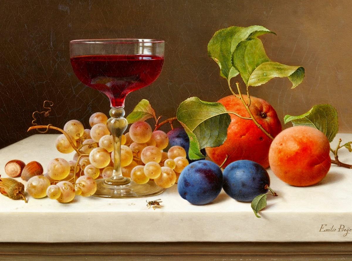 Пазл Собирать пазлы онлайн - Ягоды и вино