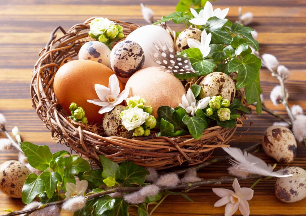 Пазл Собирать пазлы онлайн - Яйца в корзине