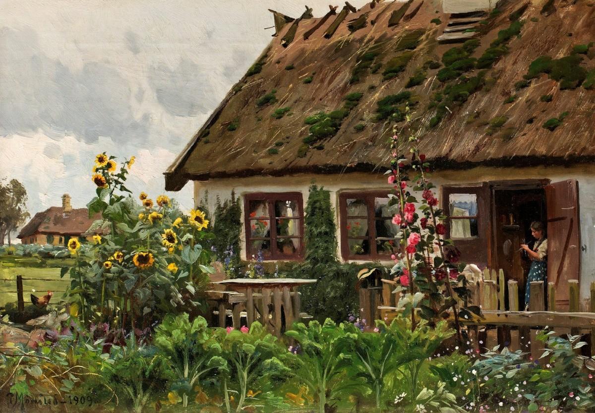 Пазл Собирать пазлы онлайн - Загородный дом