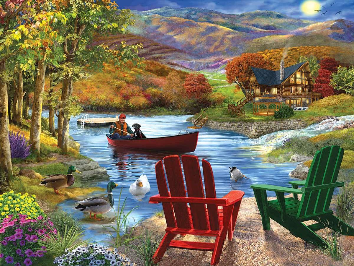 Пазл Собирать пазлы онлайн - Жизнь на озере
