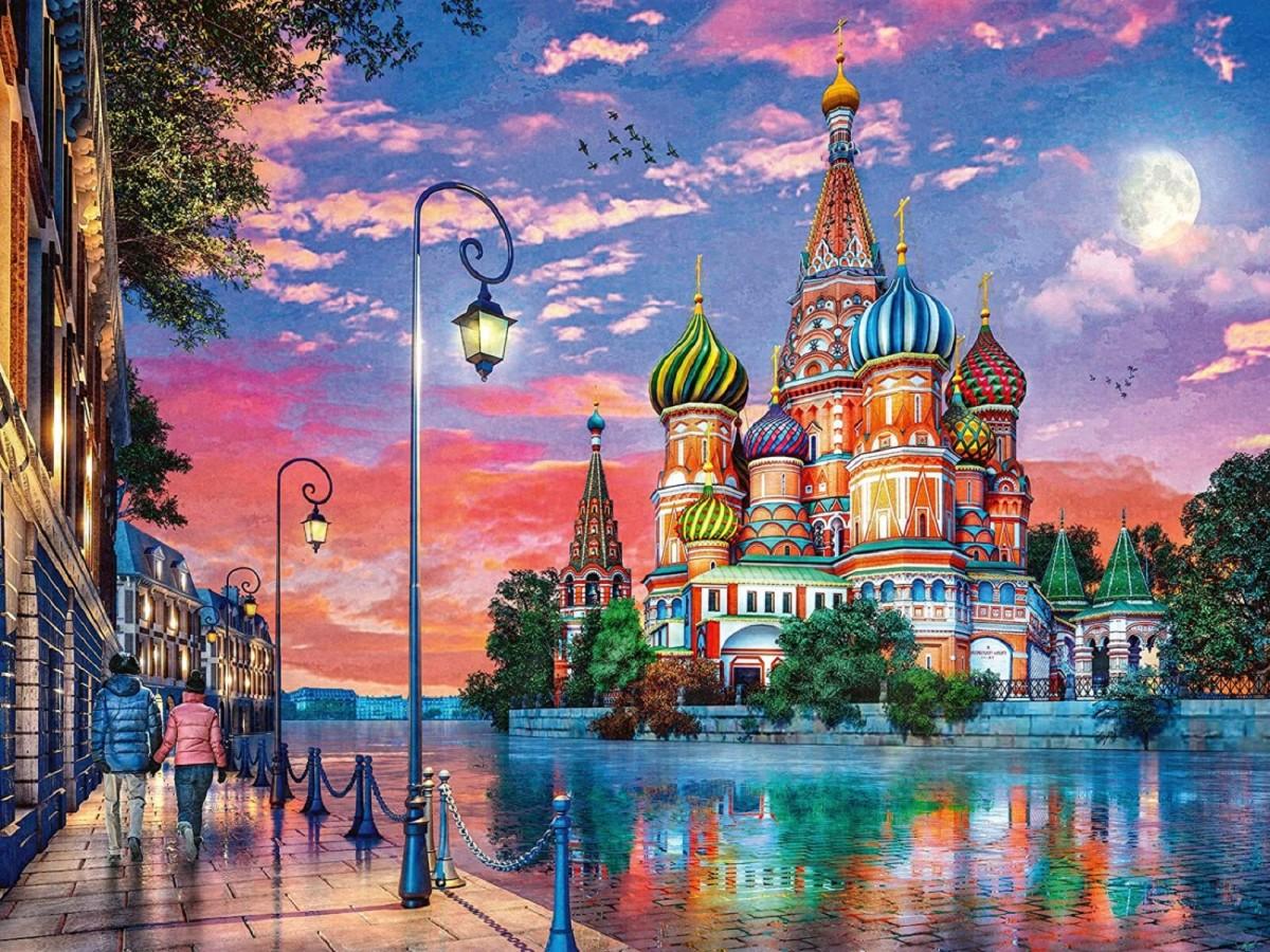 Пазл Собирать пазлы онлайн - Храм Василия Блаженного