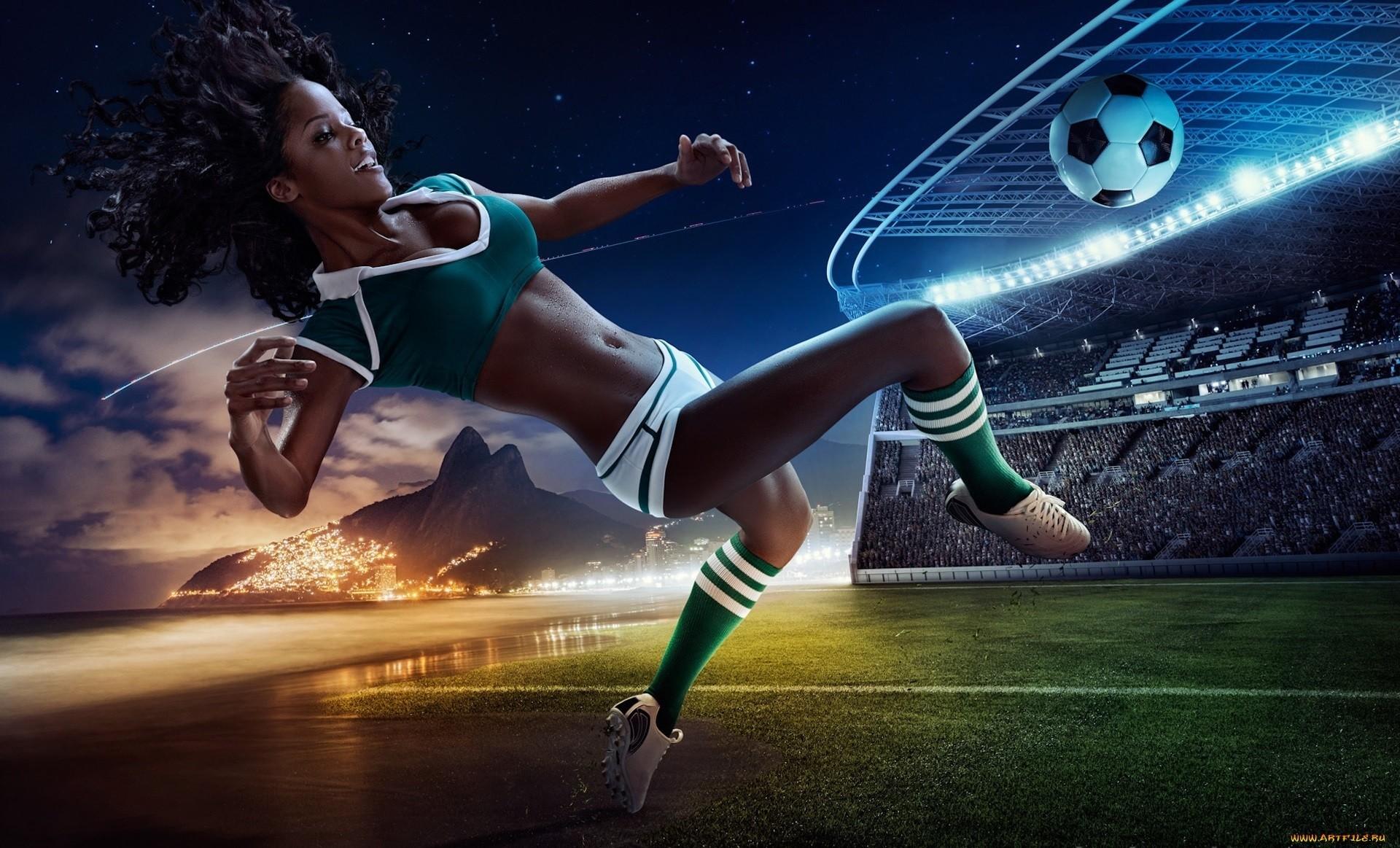 девушки, футбол загрузить