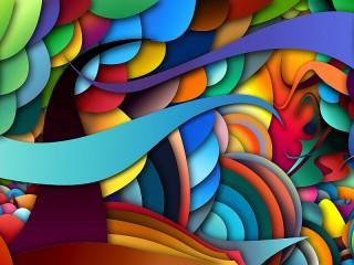 Собирать пазл 3D-абстракция онлайн