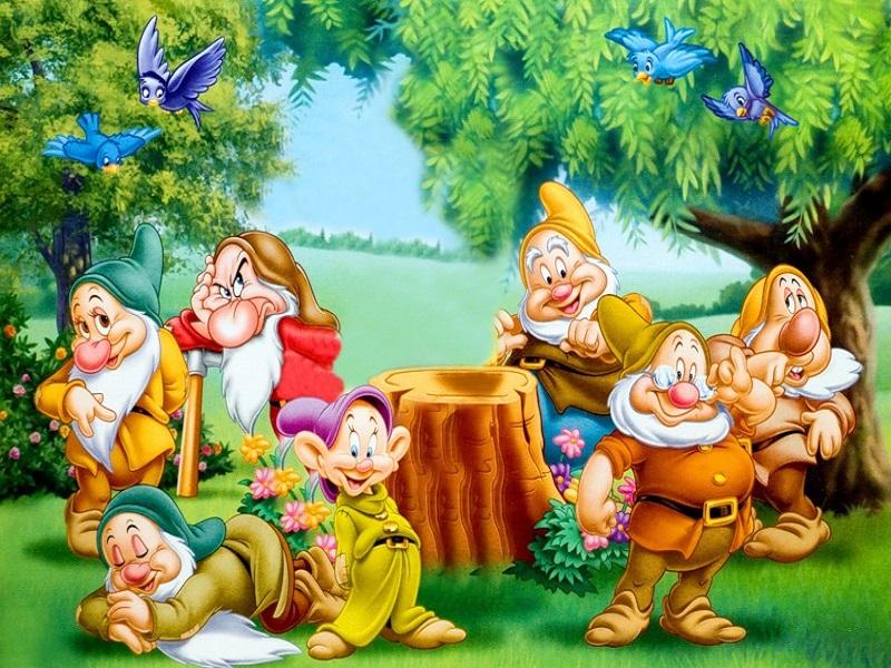Картинки белоснежка и семь гномов для детского сада, сказать