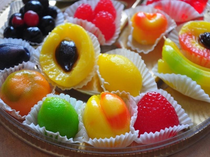 Пазл Собирать пазлы онлайн -  Мармелад - фрукты