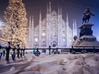 Собирать пазл  Зимний Милан онлайн