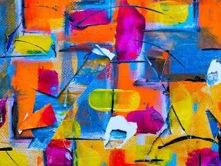 Собирать пазл Абстрактное полотно онлайн