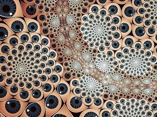 Собирать пазл Абстракция с глазами онлайн
