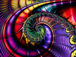 Собирать пазл Абстракция спираль онлайн