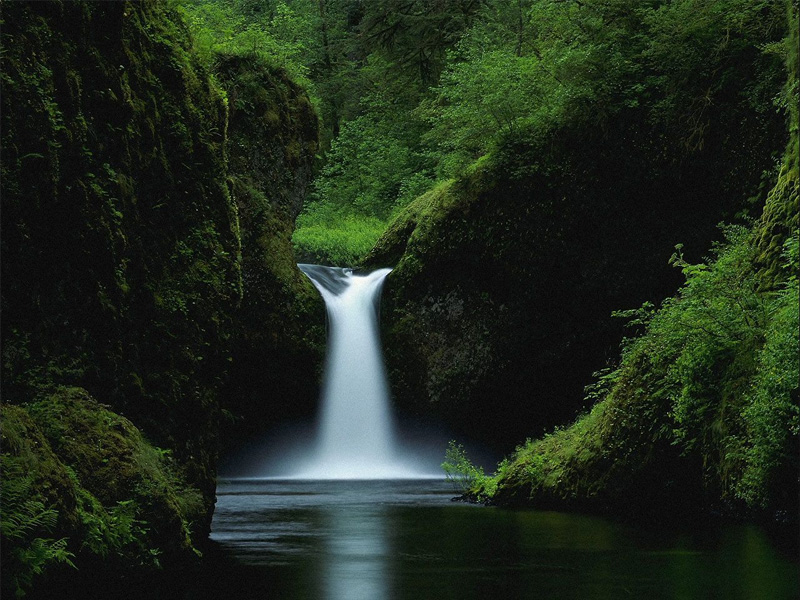 Пазл Собирать пазлы онлайн -  Водопад в Орегоне