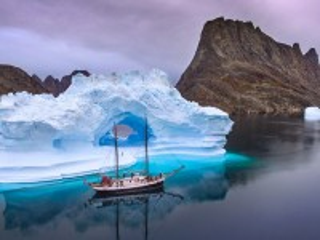 Собирать пазл Айсберг и корабль онлайн