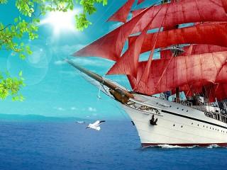 Собирать пазл Алые паруса онлайн