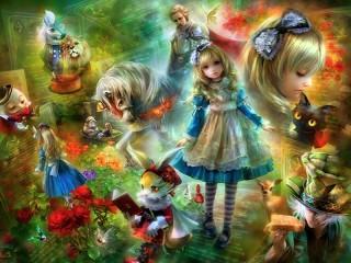 Собирать пазл Алиса и другие онлайн