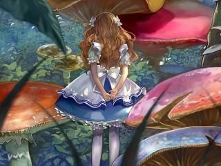 Собирать пазл Алиса и грибы онлайн