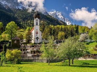 Собирать пазл Альпы в Баварии онлайн