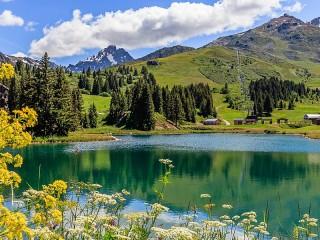 Собирать пазл Альпы во Франции онлайн