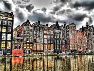 Собирать пазл Амстердам Нидерлады онлайн