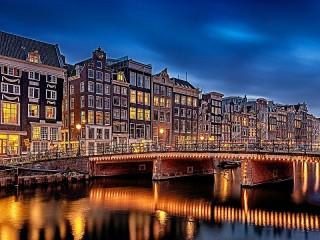Собирать пазл Амстердам Нидерланды онлайн