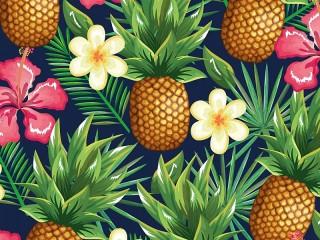 Собирать пазл Ананасы в цветах онлайн