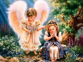 Собирать пазл Ангел-Хранитель онлайн