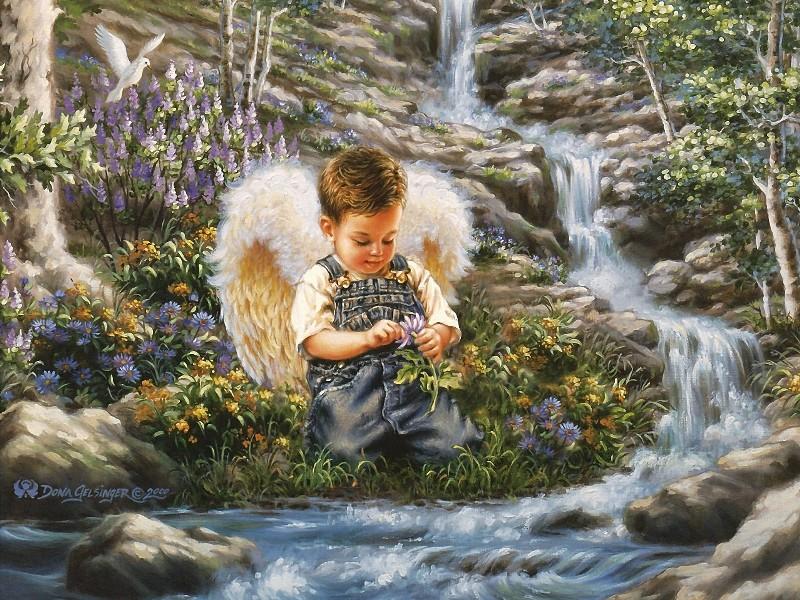 Пазл Собирать пазлы онлайн - Ангел