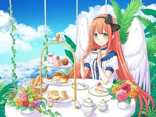 Собирать пазл Завтрак ангела онлайн