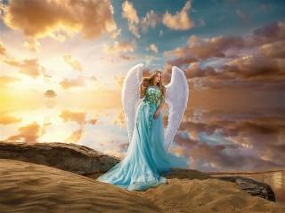 Собирать пазл Ангел пустыни онлайн