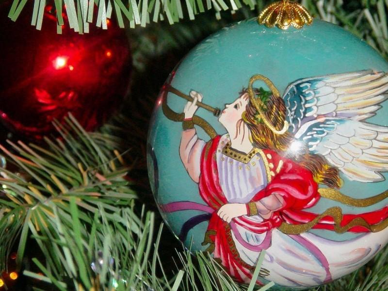 Пазл Собирать пазлы онлайн - Ангел Рождества
