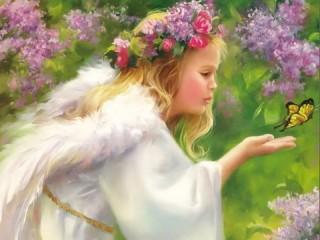 Собирать пазл Ангел онлайн