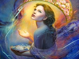 Собирать пазл Ангел света онлайн
