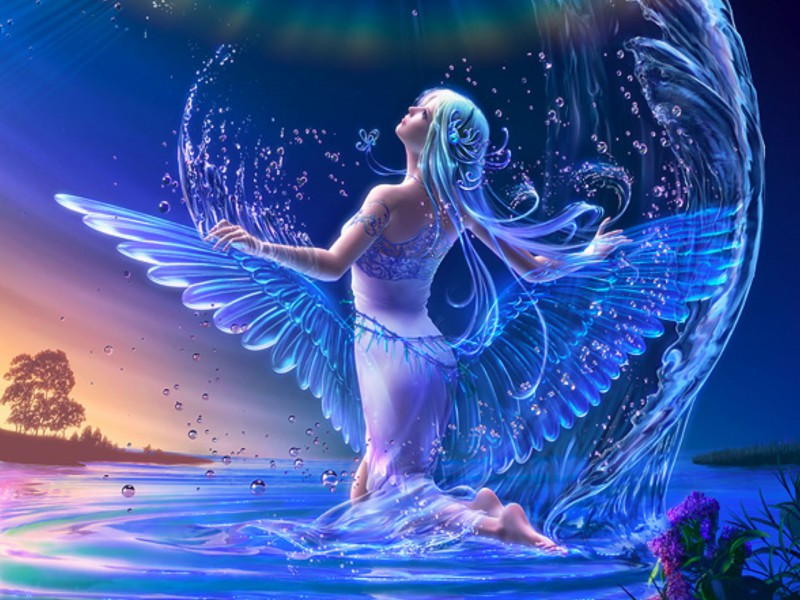 Пазл Собирать пазлы онлайн - Ангел воды