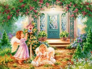 Собирать пазл Ангелы  онлайн