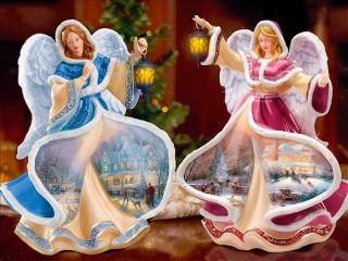 Собирать пазл Ангелы Рождества онлайн