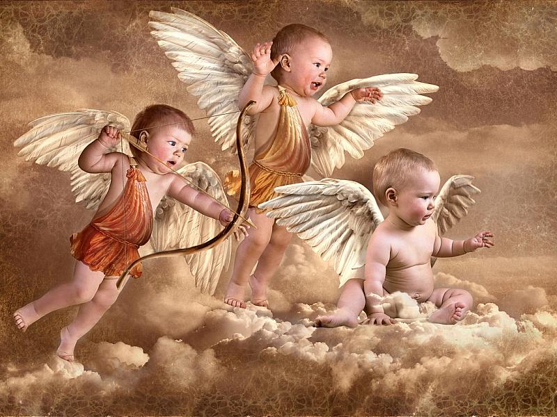 Обои на рабочий стол дети ангелочки