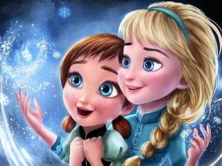 Собирать пазл Анна и Эльза онлайн