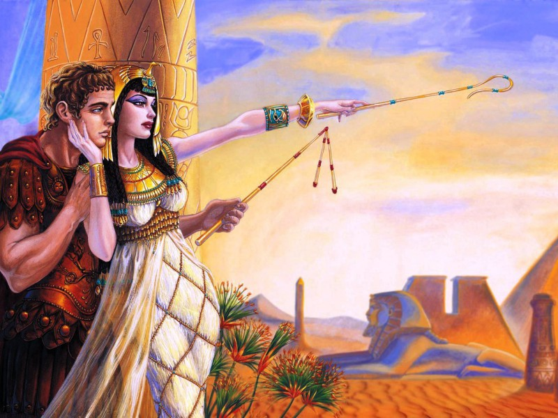 Пазл Собирать пазлы онлайн - Антоний и Клеопатра
