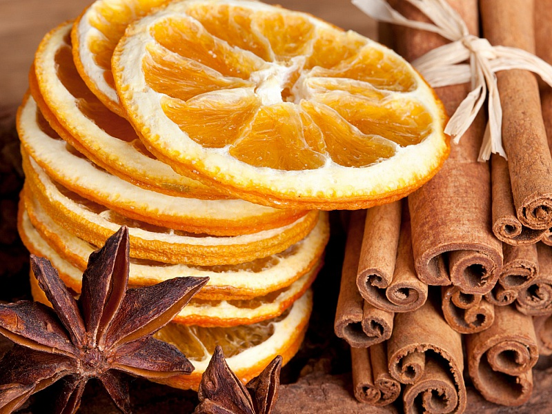 Пазл Собирать пазлы онлайн - Апельсин и корица
