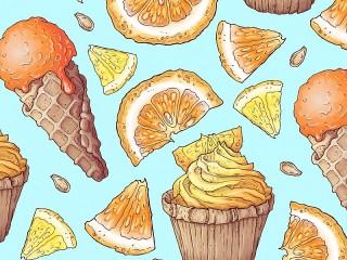 Собирать пазл Апельсиновый десерт онлайн
