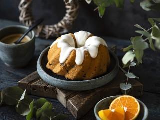 Собирать пазл Апельсиновый кекс онлайн