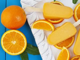Собирать пазл Апельсиновое мороженое онлайн