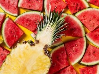 Собирать пазл Арбуз и ананас онлайн