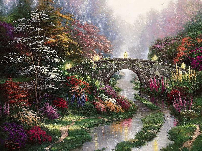 Пазл Собирать пазлы онлайн - Арочный мост