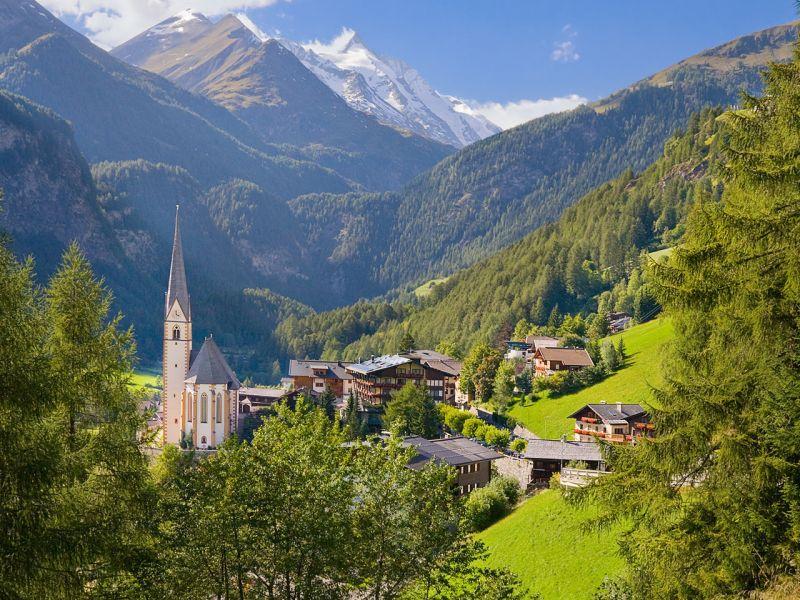 Пазл Собирать пазлы онлайн - Австрия деревня