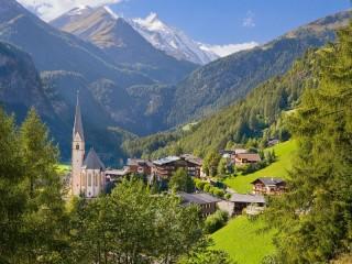 Собирать пазл Австрия деревня онлайн
